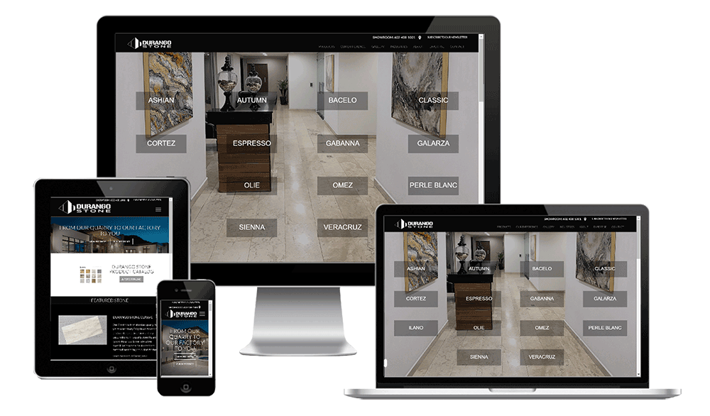 Durango Stone Website Redesign by Split Pear
