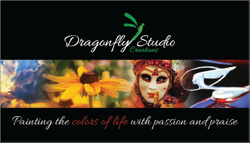 Dragonfly Studio Creations Business Card Design by Split Pear