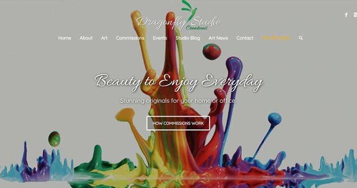 Split Pear Dragonfly Studio Creations Website Design