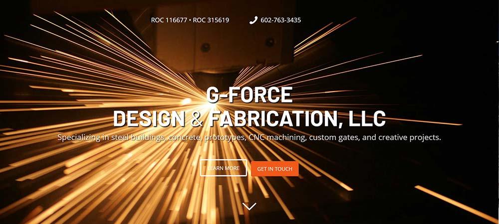 Split Pear G-Force Website Design