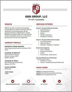 Split Pear GSIS Group LLC Capability Statement