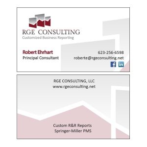 Split Pear RGE Consulting Logo and Card Design