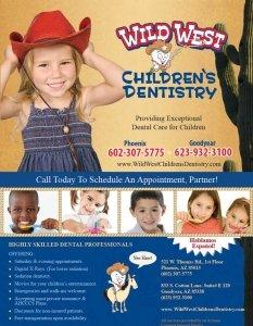 Wild West Children's Dentistry Flyer Design