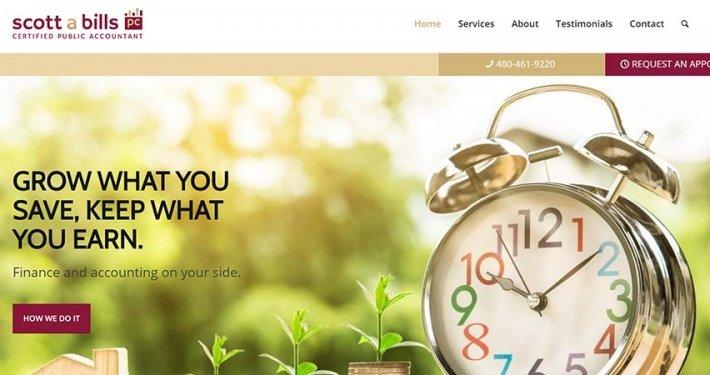 split pear sa bills pc certified public accountant website design