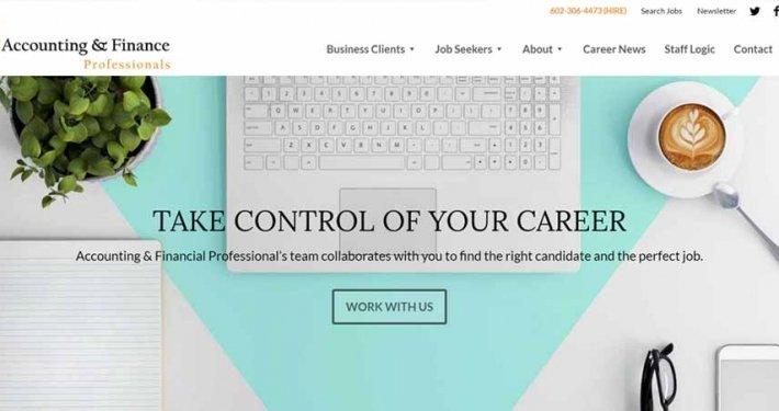 Accounting & Finance Professionals Split Pear Website Design