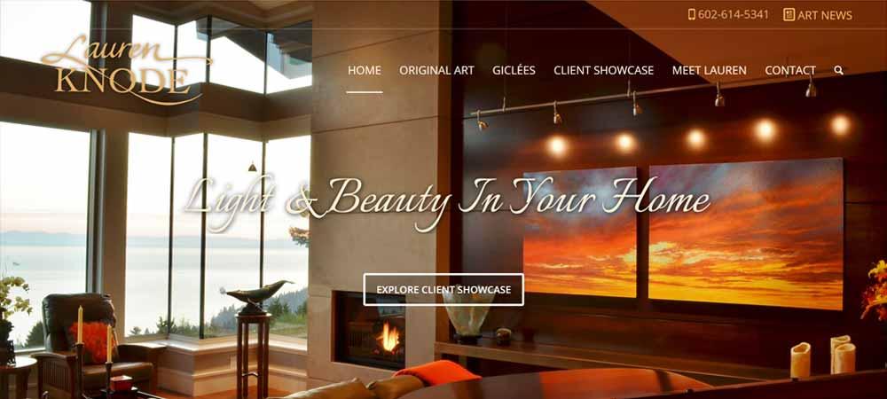 Lauren Knode Art Website Design
